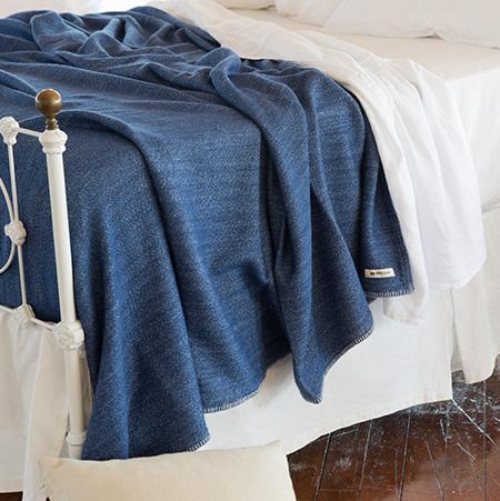 Acadia Blanket, Nautical Blue