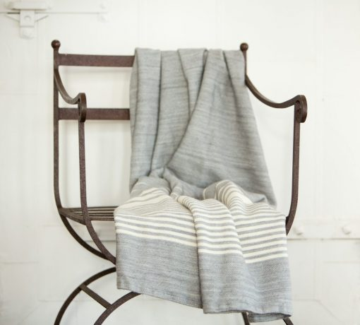 Pewter with White Stripes