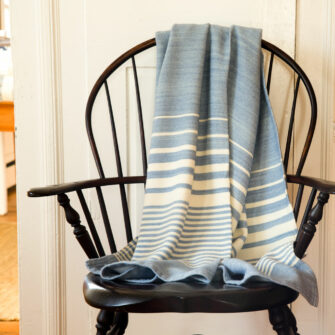 Swans Island Organic Washable Penobscott Throw in Wedgwood