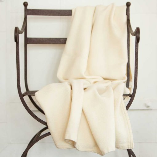 Acadia Throw Natural White