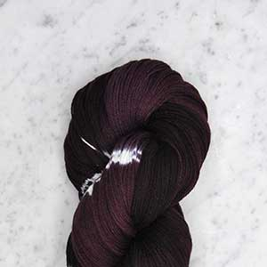 Ikat Firefly fingering swatch - elderberry