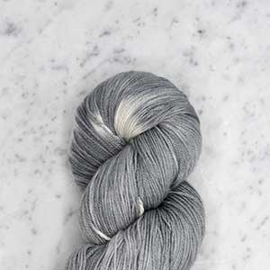 Ikat Firefly fingering swatch - sea salt