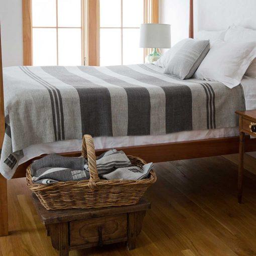 Island Blanket - Long Cove Gray & Rare Brown