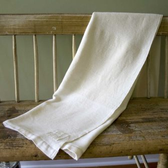 Solstice Throw - white on white