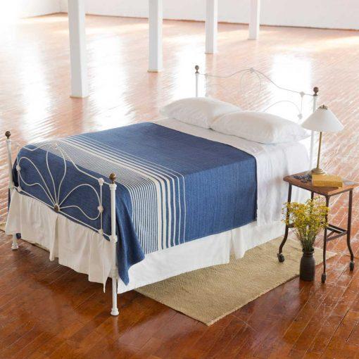 Penobscot Blanket - Nautical Blue with White Stripe