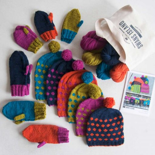 Confetti Hat & Mittens Kit Contents