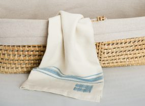 Grace Collection, White with Sky Blue Stripes