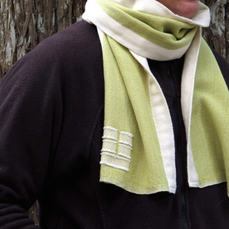 Swans Island Thyme with White Trim Scarf