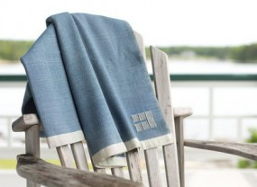 Swans Island Katahdin Marine Color Throw