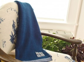 Swans Island Solid Indigo Throw