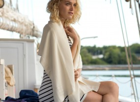 Boothbay Wrap, Ivory