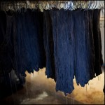 Swans Island Indigo Yarn Drying