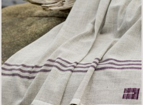 Summer Blanket in Purple Stripe