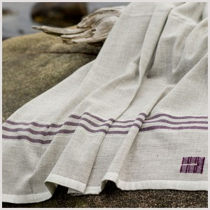 Summer Blankets in Purple Stripe