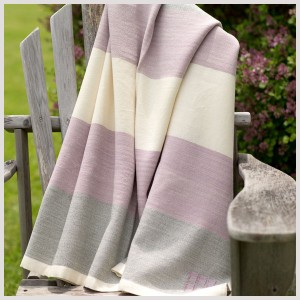 Summer Blankets in Purple and Grey