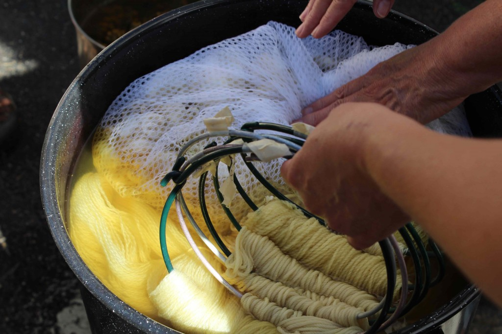 Yellow is the most common natural dye