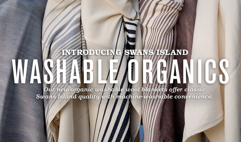 Swans Island Company Washable Organic Blankets and Cowls