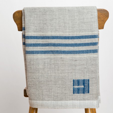 heritage throw - indigo