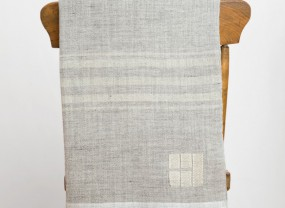 heritage throw - natural white