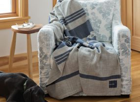 Island Collection Throw, Long Cove Grey with Midnight