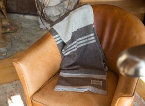 Island Collection Throw, Rare Brown with Long Cove Grey