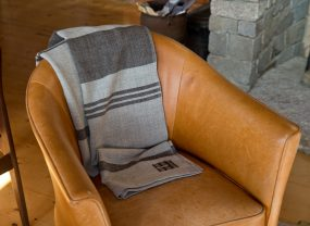 Island Collection Throw, Long Cove Grey with Rare Brown
