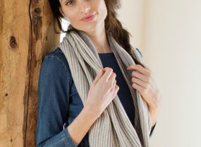 Cafe Cowl, Pewter & Natural